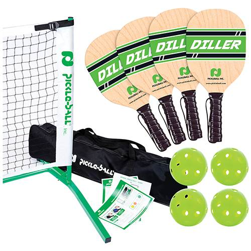 3.0 Tournament Net & Frame Set with Diller Wood Paddles