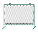 Bakko Outdoor Fence Mounted Pickleball Rebounder Net