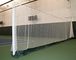 White Indoor Pickleball Court Divider Netting 10 X 60 W/Vinyl Kick-Plate